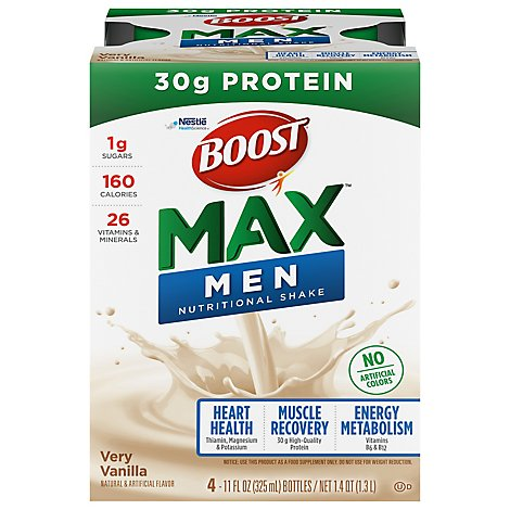 BOOST Max Nutritional Shake Very Vanilla - 4-11 Fl. Oz.