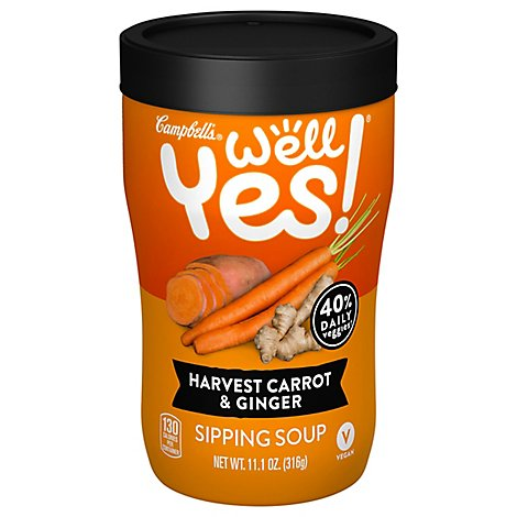 Campbells Well Yes! Soup Harvest Carrot & Ginger Jar - 11.1 Oz