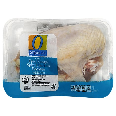 O Organics Organic Chicken Breast Split - 1 LB