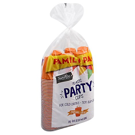 Signature Select Party Cups Family Pack - 240 Count