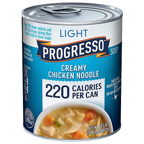 PROGRESSO Light Soup Creamy Chicken Noodle Can - 18.5 Oz