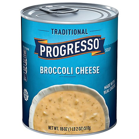 PROGRESSO Traditional Soup Broccoli Cheese Can - 18 Oz