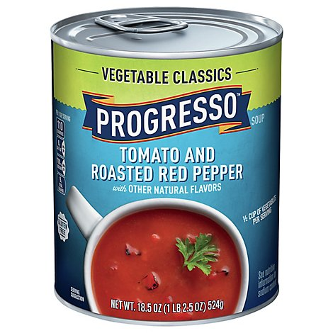 PROGRESSO Vegetable Classics Tomato & Roasted Red Pepper Can - 18.5 Oz