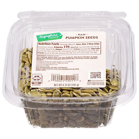 Raw Pumpkin Seeds - 6.75 Oz.