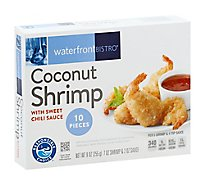 waterfront BISTRO Shrimp Coconut With Sweet Chili Sauce 10 Count - 9 Oz
