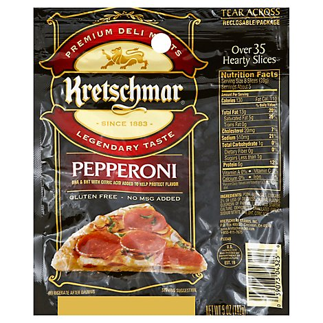 Kretshchar Gluten Free Sliced Pepperoni Pizza - 5 Oz