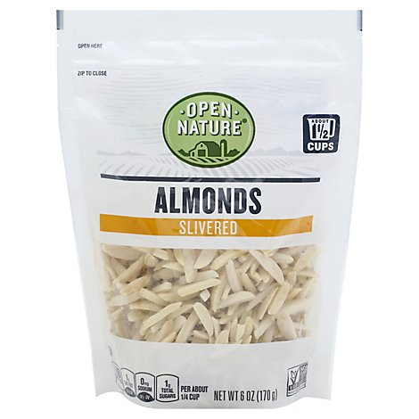 Open Nature Almonds Slivered Bag - 6 Oz