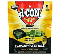 D-Con Cf Bait Staition Refll - 5 Count