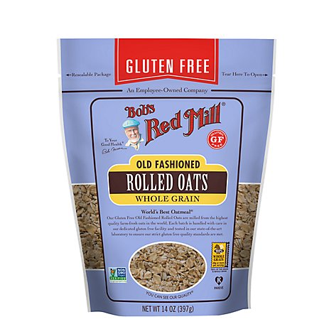 Bobs Red Mill Rolled Oats Gluten Free Old Fashion - 14 Oz