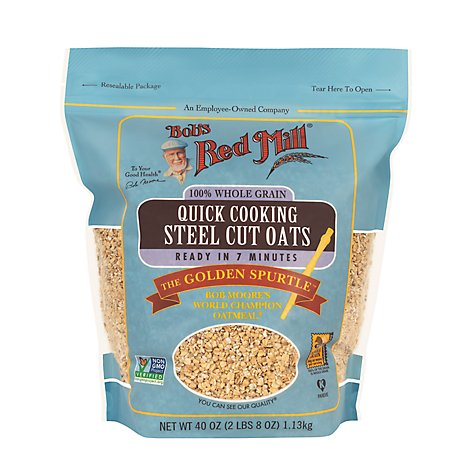 Bobs Red Mill Oats Steel Cut Quick Cooking - 40 Oz