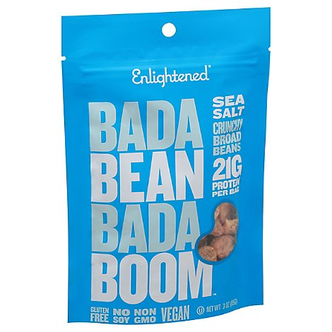 ENLIGHTENED Crisps Broad Bean Roasted Sea Salt Pouch - 3 Oz