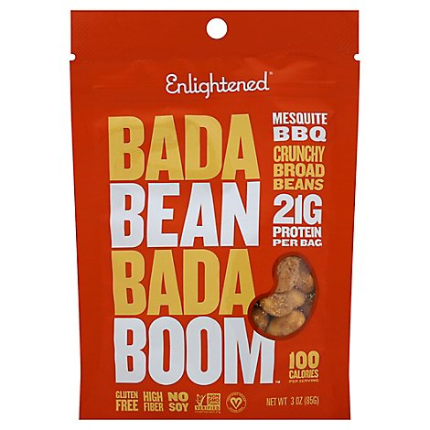 ENLIGHTENED Crisps Broad Bean Roasted Mesquite Bbq Pouch - 3 Oz