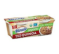 Minute Rice Ready To Serve Organic Quinoa White & Red Sleeve - 8.8 Oz