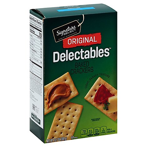 Signature SELECT Crackers Delectables Original - 13.7 Oz