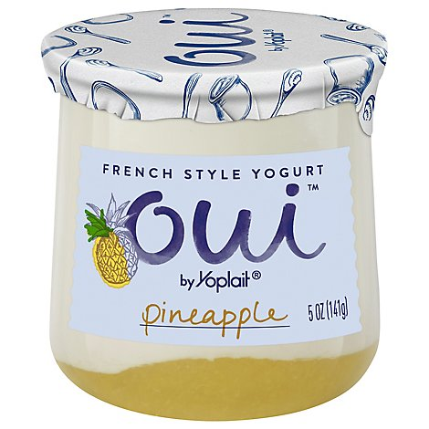 Oui by Yoplait Yogurt French Style Pineapple Jar - 5 Oz