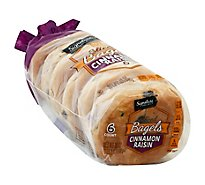 Signature SELECT Bagels Cinnamon Raisin - 18 Oz