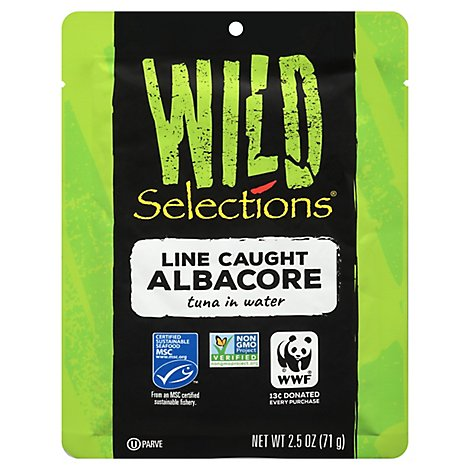 Wild Selections Line Caught Albacore - 2.5 Oz