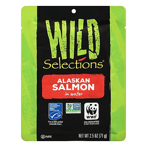 Wild Selections Alaska Salmon In Water - 2.5 Oz