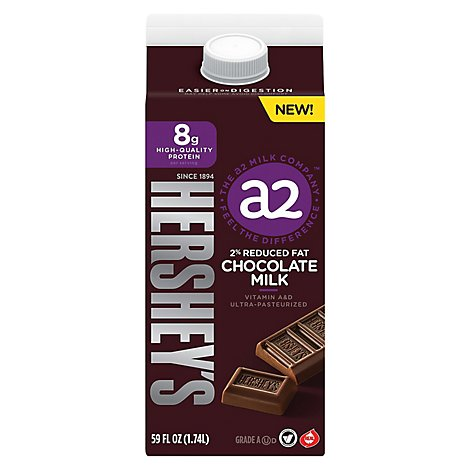 a2 Milk 2% Reduced Fat Chocolate - 59 Oz