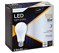 Signature SELECT Light Bulb LED Daylight 16W A19 - 2 Count