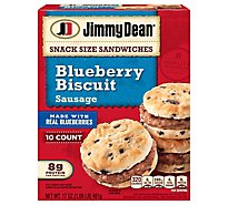 Jimmy Dean Blueberry Biscuit & Sausage Sandwiches 10 Count