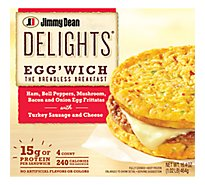 Jimmy Dean Delights Ham Peppers Mushroom Eggwich 4 Count