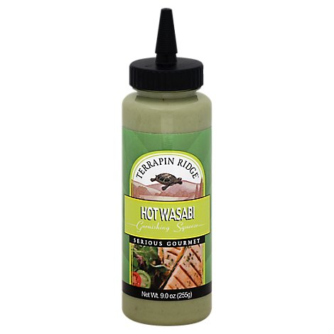 Terrapin Ridge Farms Garnishing Squeeze Sauce Hot Wasabi Bottle - 9 Oz