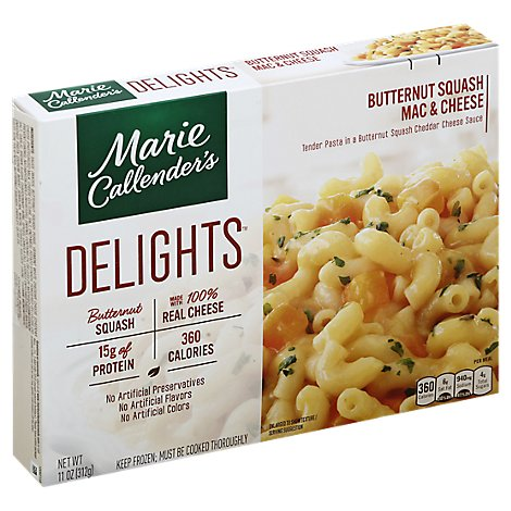 Marie Callenders Delights Meal Mac & Cheese Butternut Squash Box - 11 Oz