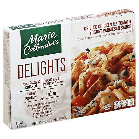 Marie Callenders Delights Meal Grilled Chicken In A Tomato Yogurt Parmesan Sauce Box - 11 Oz