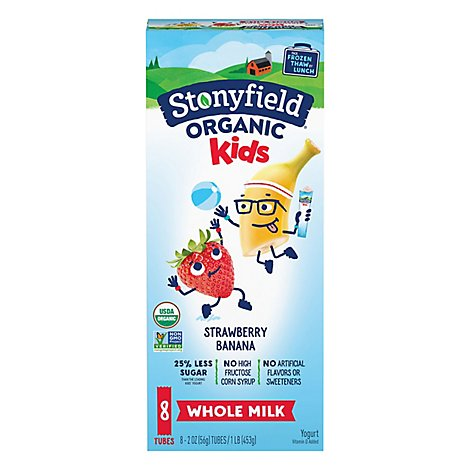 Stonyfield Organic Ykids Strawberry Banana - 16 Oz