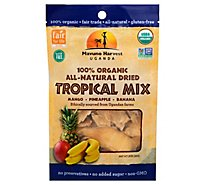Mavuno Harvest Dried Fruit Tropical Mix Organic All Natural Mango Pineapple Banana Pouch - 2 Oz