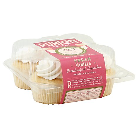 Rubicon Bakers Vegan Vanilla Cupcake 4 Pack  - Each
