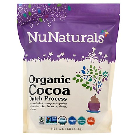Nunatural Cocoa Powder Dutch Processed - 1 Lb