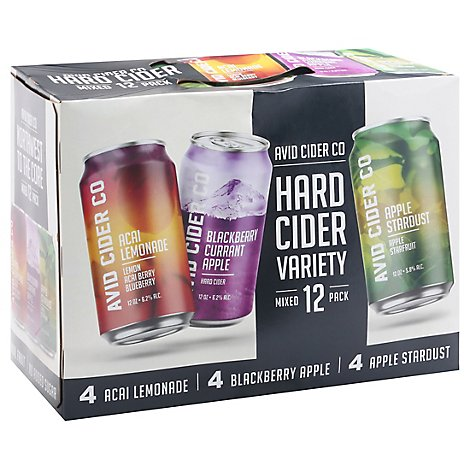 Avid Cider Co Cider Variety Pack In Cans - 12-12 Fl. Oz.