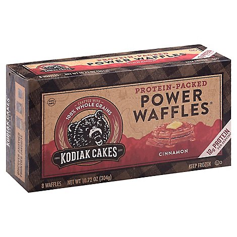 Kodiak Cakes Power Waffles Cinnamon 8 Count - 10.72 Oz