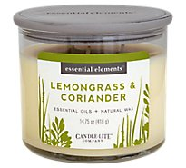 Candle Lite Essential Elements Lemongrass Coriander - 14.75 Oz