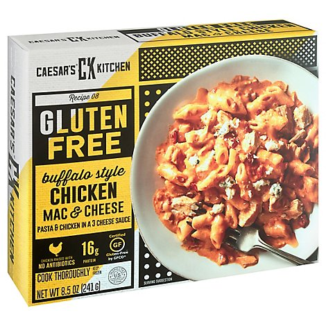 Caesars Kitchen Gourmet Gluten Free Mac & Cheese Buffalo Style Chicken - 8.5 Oz