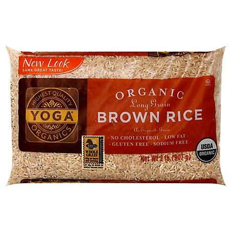 Yoga Rice Brown Organic Long Grain Bag - 2 Lb