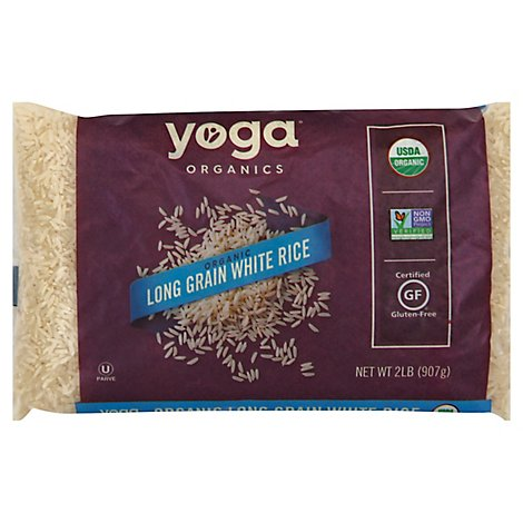 Yoga Rice White Organic Long Grain Bag - 2 Lb