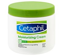 Cetaphil Moisturizing Cream Body Dry Sensitive Skin Jar - 16 Oz