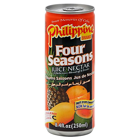 Philippine Brand Juice Nectar Four Seasons Can - 8.4 Fl. Oz.