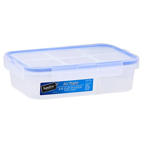 Signature SELECT Container Divided AirTight 3.5 Cup - Each