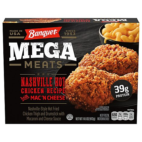 Banquet Mega Meats Nashville Style Hot Fried Chicken With Mac N Cheese - 14.6 Oz