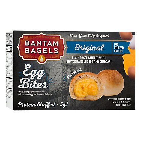 Bantam Bagels Bagel Plain Egg Cheese - 8.4 Oz