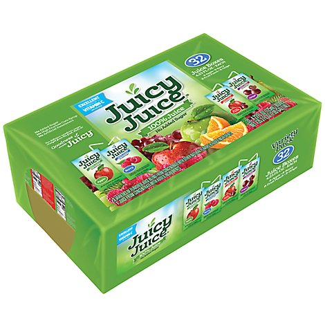 Juicy Juice Juice Blend Apple Berry Fruit Punch Grape Variety Pack - 32-4.23 Fl. Oz.