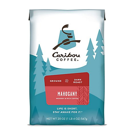 Caribou Coffee Coffee Ground Dark Roast Mahogany Bag - 20 Oz