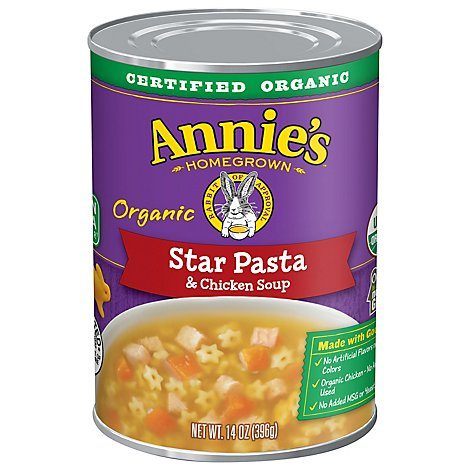 Annies Homegrown Soup Organic Star Pasta & Chicken Can - 14 Oz