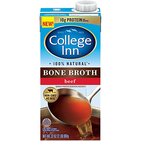 College Inn Bone Broth Beef Brick - 32 Oz