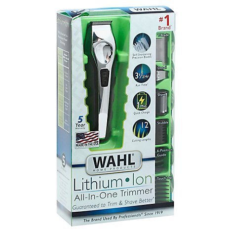 Wahl Lithium Ion Grooming Kit Trimmer All In One Rechargeable Box - Each