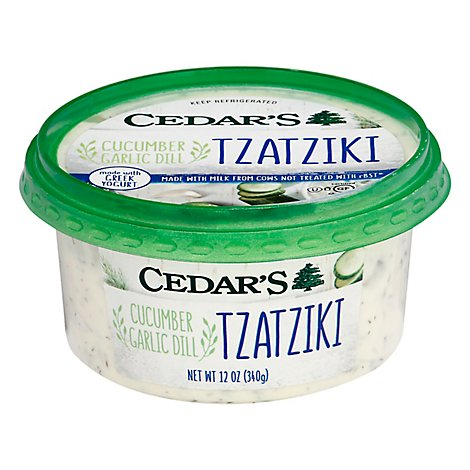 Cedars Tzatziki Cucumber Garlic Dill Tub - 12 Oz